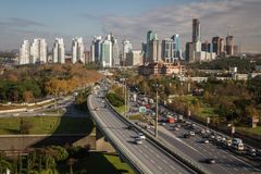 Skyscrapers in Maslak, One of the Main Business Districts of Ist Royalty Free Stock Photography
