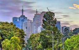 Skyscrapers of Melbourne CBD in Australia Royalty Free Stock Photo