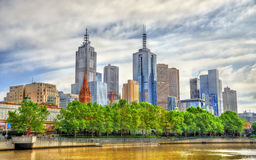 Skyscrapers of Melbourne CBD in Australia Royalty Free Stock Photography