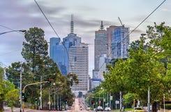 Skyscrapers of Melbourne CBD in Australia Royalty Free Stock Photos
