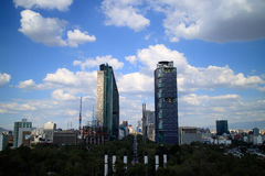 Skyscrapers in Mexico City. Skyscrapers  in Mexico City in Paseo de la Reforma Avenue Royalty Free Stock Images