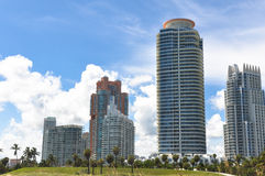 Skyscrapers in Miami Beach, Florida Royalty Free Stock Images