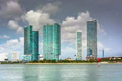 Skyscrapers in Miami, Florida. Stock Photos