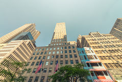 Skyscrapers of Midtown Manhattan on a sunny day - New York City Stock Photography
