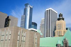 Skyscrapers in Minneapolis Stock Photo