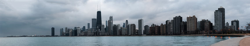Skyscrapers and modern buildings of Chicago Skyline Stock Images