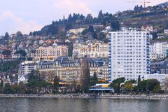 Skyscrapers in Montreux Stock Images