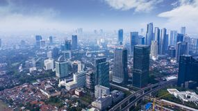 Skyscrapers at morning time in South Jakarta stock photo
