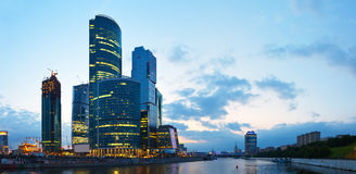 Skyscrapers of Moscow city Stock Image