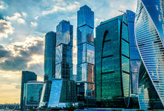 Skyscrapers of Moscow-City Stock Photography