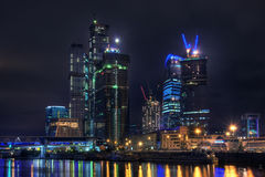 Skyscrapers in Moscow City Stock Photos