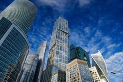 Skyscrapers of the Moscow City Stock Photography