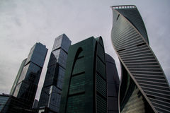 Skyscrapers of Moscow City. Modern business center Moscow-City Stock Photos
