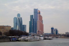 Skyscrapers of Moscow City. Modern business center Moscow-City stock image