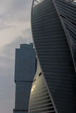 Skyscrapers of Moscow City. Modern business center Moscow-City Royalty Free Stock Photo
