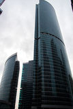 Skyscrapers of Moscow City. Modern business center Moscow-City royalty free stock photos
