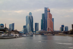 Skyscrapers of Moscow City. Modern business center Moscow-City Royalty Free Stock Image