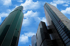 Skyscrapers of Moscow City. Modern business center Moscow-City stock images