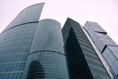 The skyscrapers of Moscow-city in Moscow houses/offices Royalty Free Stock Image