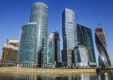 Skyscrapers Moscow City in Russia Stock Photography