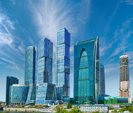 Skyscrapers - Moscow City, Russia Royalty Free Stock Image