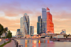Skyscrapers in Moscow Stock Photos