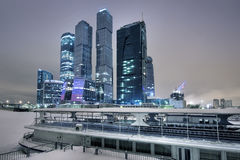 Skyscrapers of Moscow in the winter Royalty Free Stock Photo