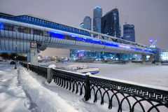 Skyscrapers of Moscow in the winter Royalty Free Stock Images