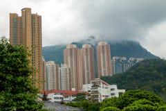 Skyscrapers in Mountainous Hong Kong Stock Image
