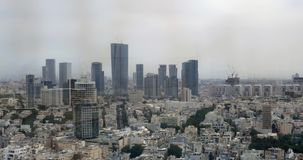 Tel Aviv panorama with houses and skyscrapers, Israel stock video