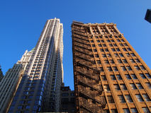 Skyscrapers in New York. Picture of the two skyscrapers in Manhattan, New York Stock Photos