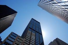 Modern buildings, new york city. Skyscrapers in new york city, new york, manhattan stock photography
