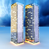 Skyscrapers in the Night Royalty Free Stock Image