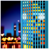 Skyscrapers at night Stock Photography