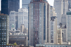 Skyscrapers Of Manhattan Royalty Free Stock Photography
