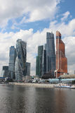 Skyscrapers of office, business and finance center Moscow-City Stock Photos