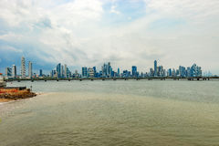 Skyscrapers in Panama city, Panama. Royalty Free Stock Photography