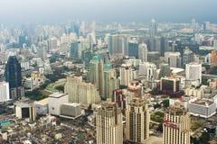 Skyscrapers panorama, Kuala Lumpur. Aerial view of skyscrapers - Kuala Lumpur, Malaysia Royalty Free Stock Images