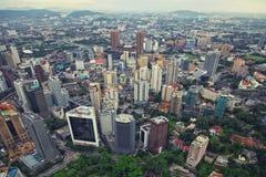 Skyscrapers panorama, Kuala Lumpur. Aerial view of skyscrapers - Kuala Lumpur, Malaysia Royalty Free Stock Image