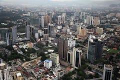 Skyscrapers panorama, Kuala Lumpur. Aerial view of skyscrapers - Kuala Lumpur, Malaysia Royalty Free Stock Photos