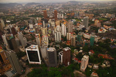 Skyscrapers panorama, Kuala Lumpur. Aerial view of skyscrapers - Kuala Lumpur, Malaysia Stock Photo