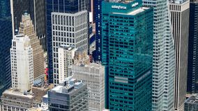 Skyscrapers Panoramic view. Of modern city stock footage