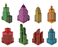 Skyscrapers in perspective (colors) Stock Photography