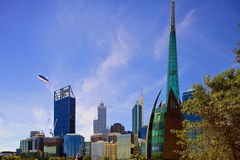 Skyscrapers in perth, western australia Stock Images