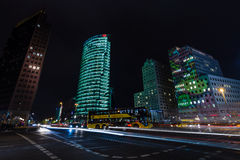Skyscrapers on Potsdamer Platz Royalty Free Stock Images