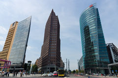 Skyscrapers on Potsdamer Platz Royalty Free Stock Photo