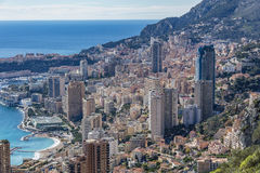 Skyscrapers in Principality of Monaco Royalty Free Stock Photography
