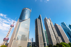 Skyscrapers of Pudong, Shanghai, China. Stock Photography