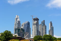 Skyscrapers in the Puerto Madero district in Buenos Aires Stock Photo
