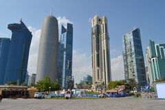 Skyscrapers, Qatar Stock Image